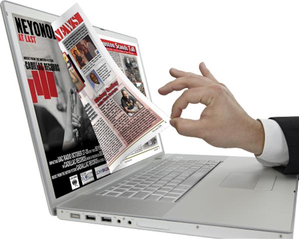 Periódicos en muestras digitales.