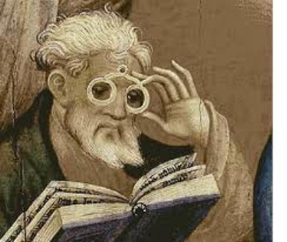 Invención de los anteojos.