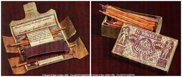 Invención de los fósforos.