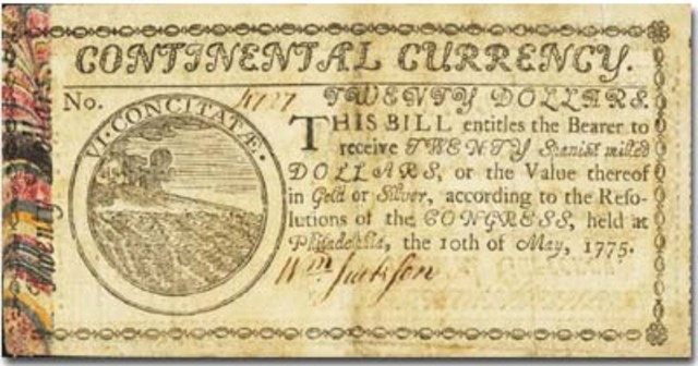 Continentals Money
