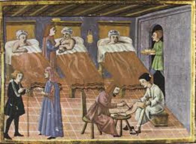 EDAD MEDIA - Como se desarrollaba la enfermería: