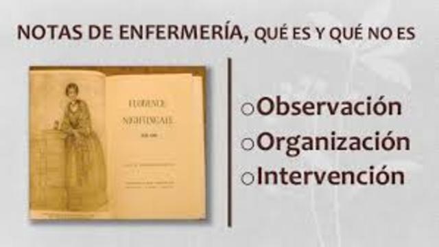 Publicacion y definicion de enfermeria de Florence Naigthtingale