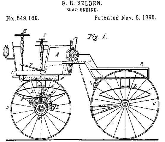 First U.S. Automobile Patent