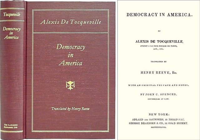 the tyranny of the majority theory in democracy in america by alexis de tocqueville and on liberty b Antebellum south carolina utilized calhoun's doctrines in the old south as public policy, adopted from his theory of concurrent majority this localism strategy was presented as a mechanism to circumvent calhoun's perceived tyranny of the majority in the united states.