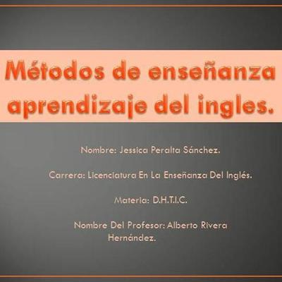 Métodos utilizados en la enseñanza del ingles timeline
