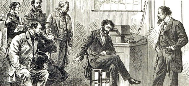 En 1883 se realiza la primera conferencia telefónica internacional.