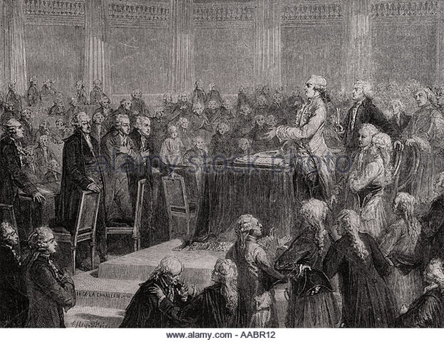 King Louis Formally Accepts Constitution