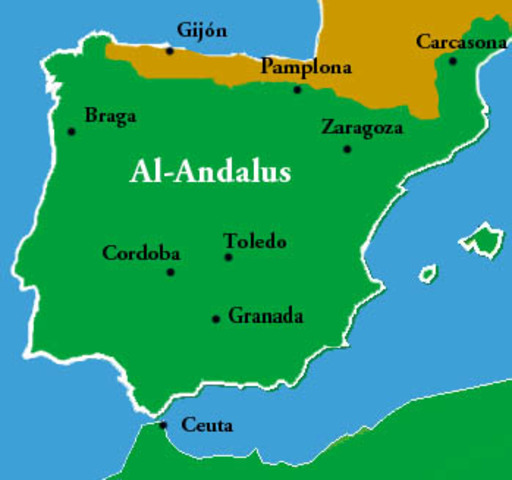 Map Of Spain During Muslim Rule.Al Andalus The Golden Age Of Islam Timeline Timetoast Timelines