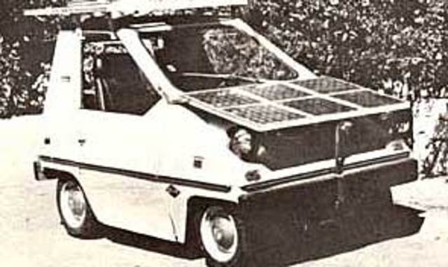 Image result for demonstration of solar powered car in 1955