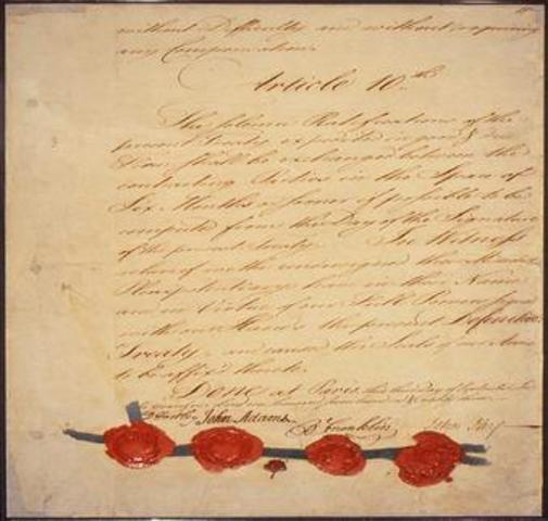 Treaty of Paris (continued)
