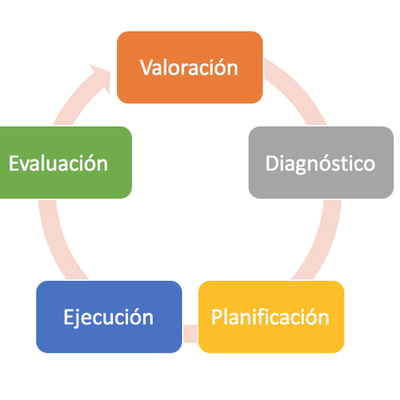 evolución del proceso enfermero timeline