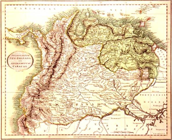 Creacion del virreinato de Nueva Granada