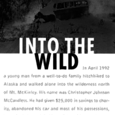 Into the wild by Kaycee Jenkins timeline