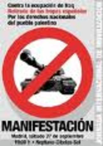 movilización internacional contra la guerra