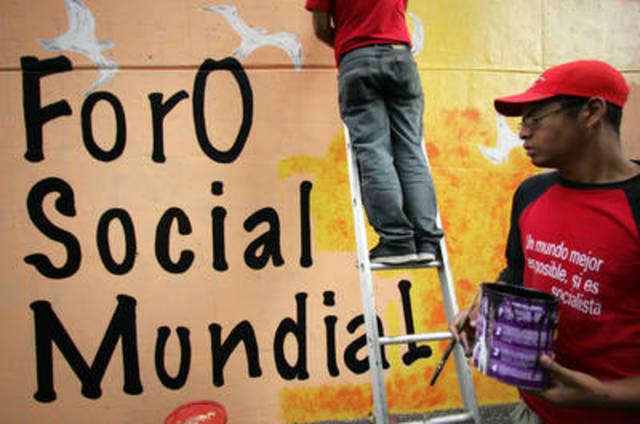 Forum Social Mundial, quese reúne en Porto Alegre (Brasil)