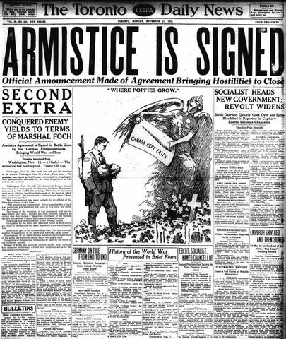 Germany signs armistice