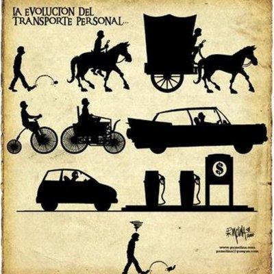 la evolucion de los medios de transporte timeline