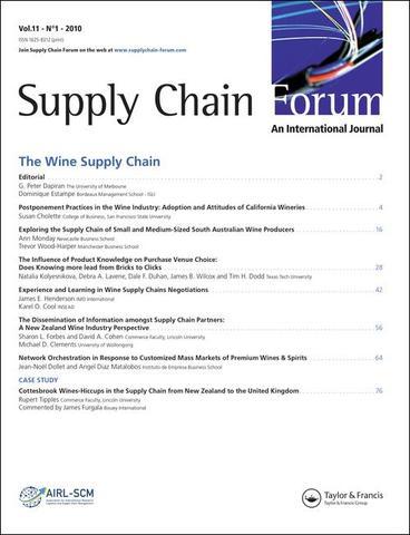 1998 - El foro Global de la cadena de suministro y su concepto.