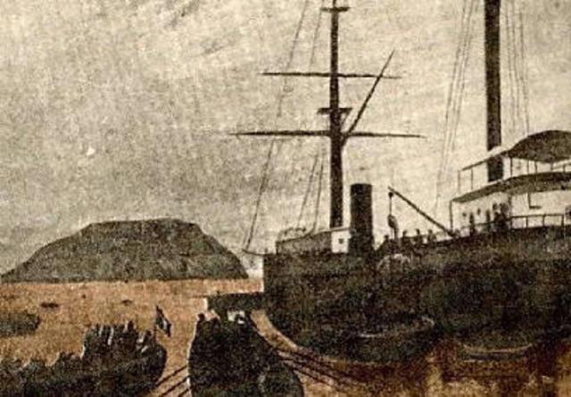 El Huascar captura del vapor Rimac