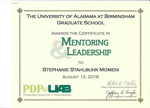 Mentoring and Leadership Certification
