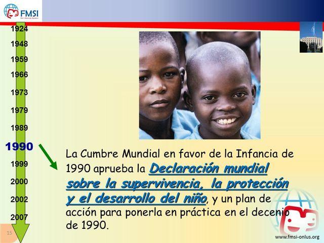 Declaración Mundial  sobre la Supervivencia, Protección y Desarrollo del  niño.