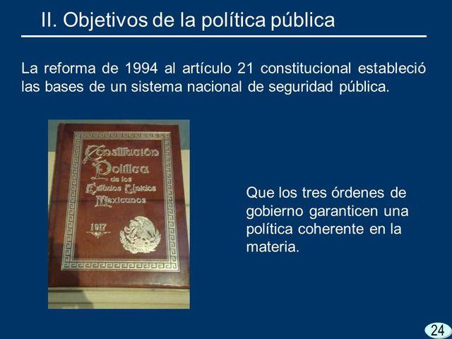 En 1994 Se recupera la naturaleza jurídica del Artículo Constitucional 21 al modifica el párrafo 5° y 6°