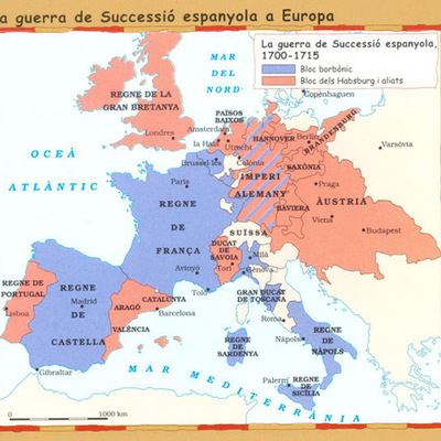 Guerra de Successió (1702-1715) timeline