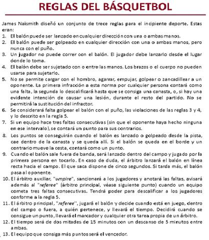 Publicación del primer reglamento oficial