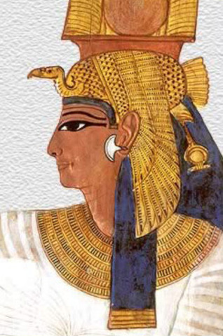 Marriage between Ramesses II and Nefertari.