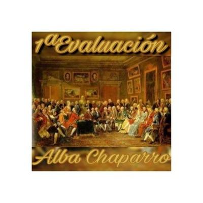 Eje Cronológico 1ªEvaluación Alba Chaparro  timeline