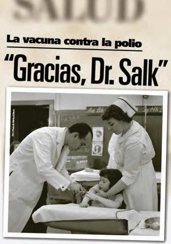 Vacunación antipoliomielítica con vacuna Salk