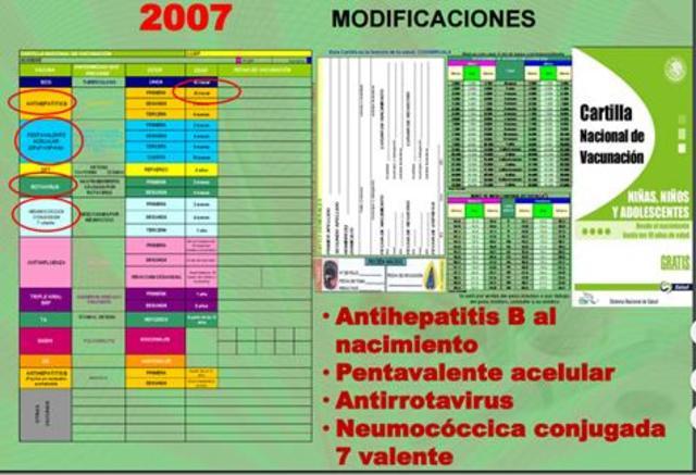 Sustitución por la vacuna pentavalente acelular