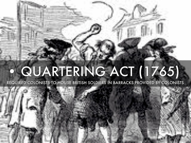Image result for quartering act of 1765
