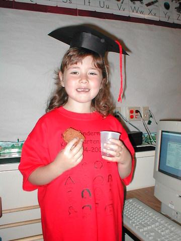I graduate kindergarten
