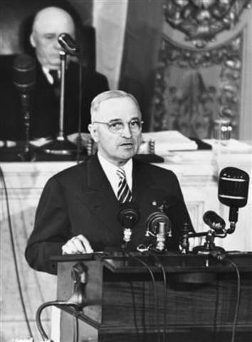 Harry s truman and his worldwide famous speech