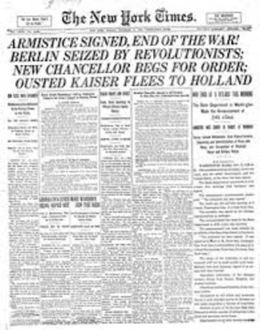 Firma de armisticio