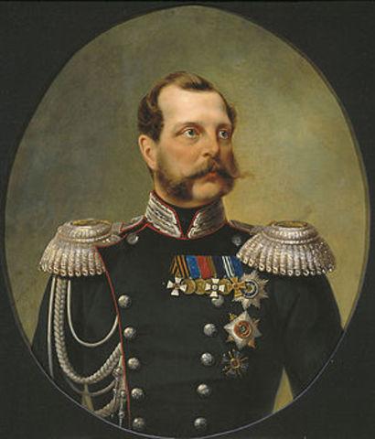 Comienza el reinado del Zar Alejandro II