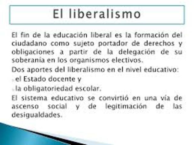 LIBERALISMO El siglo XIX, había logrado dar forma al nacimiento de los sistemas escolares.