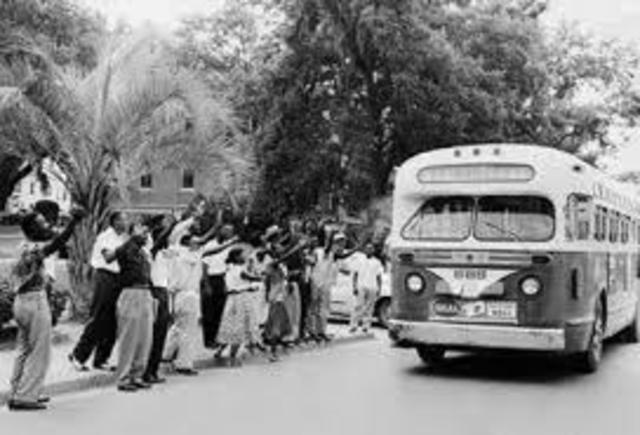 a history of the montgomery bus boycotts in the united states The montgomery bus boycott began when rosa parks refused to give up her seat on a segregated bus the fight to desegregate the montgomery busses continued all the way to the united states supreme .