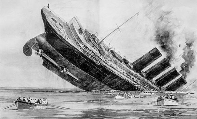 Sinking of British liner Lusitania