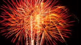 Explosion of a firework timeline