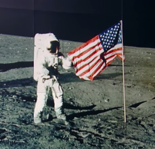 U.S.A.'s Apollo 11 Lands on the Moon