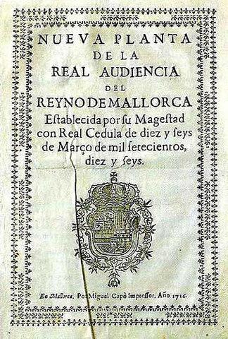 Decretos Nueva Planta Mallorca