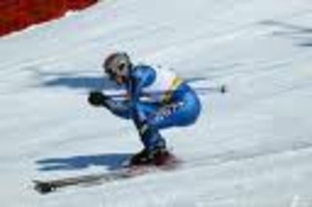 Fastest downhill skier.   156