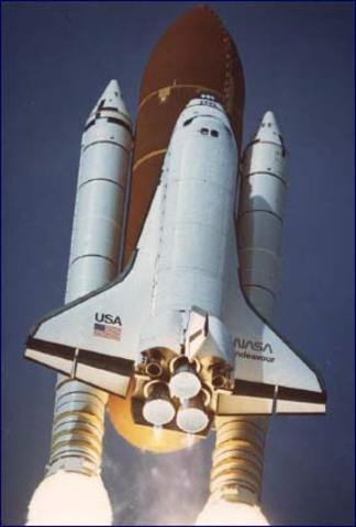 The speed reached by the space shuttle Columbia.16,700