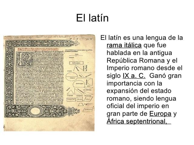 Llatí (llengua oficial)