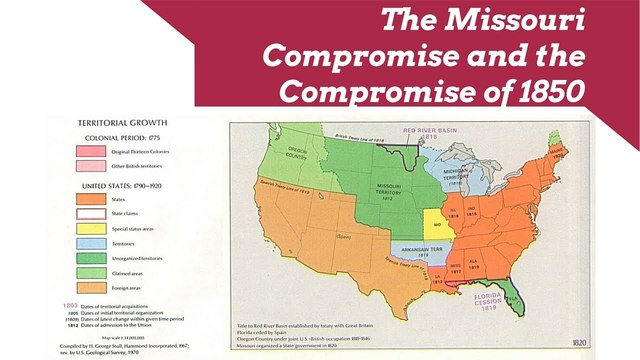 The Missouri Compromise of 1820 - Essential Civil War ... |United States Missouri Compromise