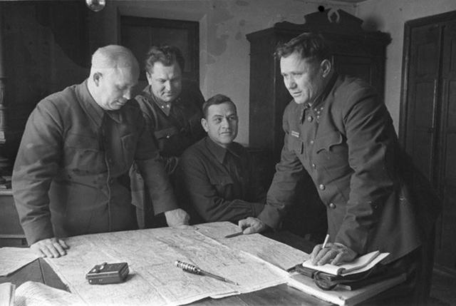 Заседание Военного совета  Сталинградского фронта