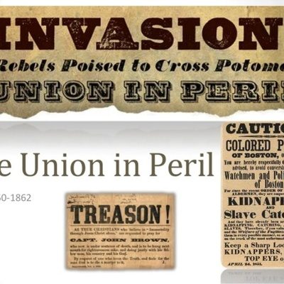 The Union In Crisis timeline