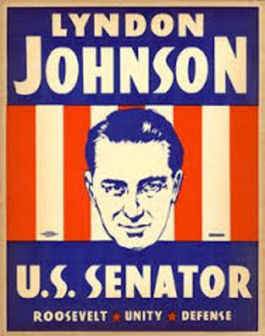 Johnson is elected to the U.S. Senate.